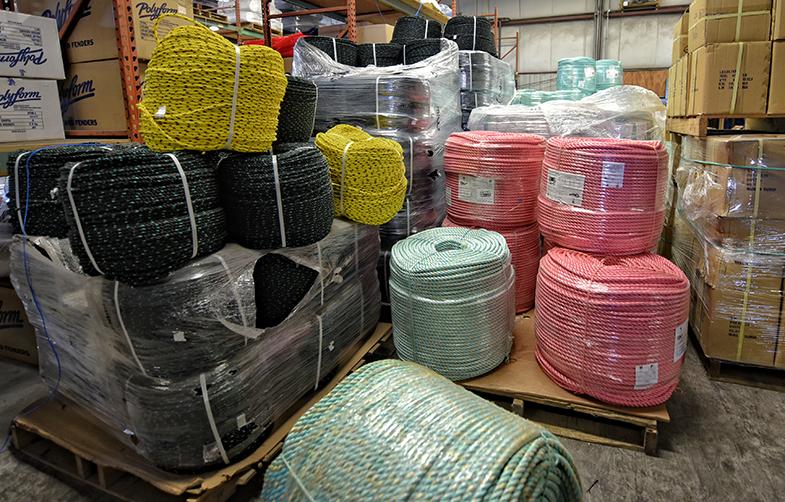 Hercules Marine shipping, fishing supplies, full line of ropes, we stock.